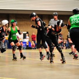 Derby Girls Win Final Home Match of the Season